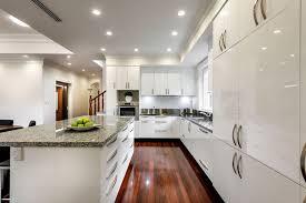 Recessed Lights In Kitchen Kitchen Attractive White Gloss Wood Kitchen Countertops Kitchen