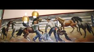 cowboy rodeo wpa mural to be removed conservation consultation and cowboy rodeo wpa mural to be removed conservation consultation and restoration in lamesa texas