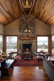 mountain homes interiors mountain home interiors open floor plans prevail in the lakeside