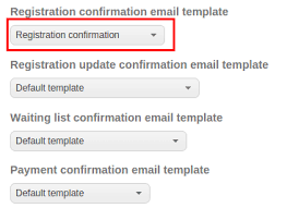 how to create an automatic registration confirmation email