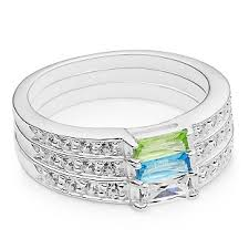 mothers rings stackable personalized sterling birthstone stack rings with free