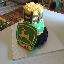 cake john deere homemade hay tractor kids birthday first wheel