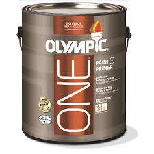 shop olympic one base 3 semi gloss acrylic exterior paint actual