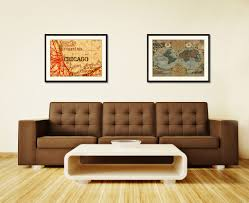 Map Room Chicago Il by Chicago Illinois Vintage Antique Map Wall Art Bedroom Home Decor
