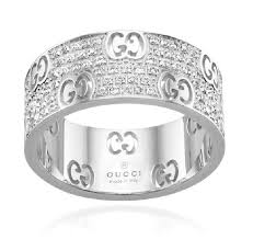 gold diamond band gucci white 18k gold icon stardust eternity 0 57ct diamond band