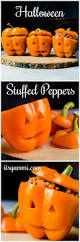 halloween stuffed peppers jack o lanterns its yummi