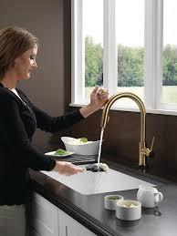delta faucet 9159t cz dst trinsic single handle pull down kitchen