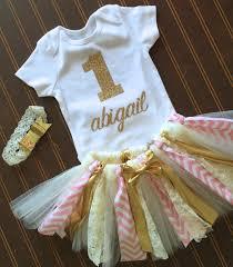 1st birthday tutu gold and pink birthday tutu set gold onsie