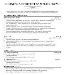sample resume of an architect sample resume resume samples