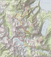 Sierra High Route Map by Susanne Z Riehemann Backpacking