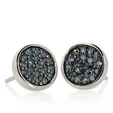 silver stud earrings 25ctw diamond sterling silver stud earrings 6916302 hsn