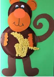 Monkey Paper Plate Craft - monkey craft idea for crafts and worksheets for preschool