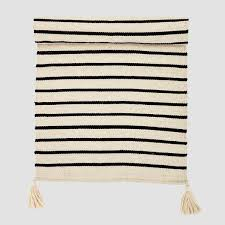Black And White Striped Runner Rug Cotton Black And White Stripe Runner Rug Att Pynta