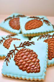 glittery pine cone cookies by sugar rush treats noël pinterest