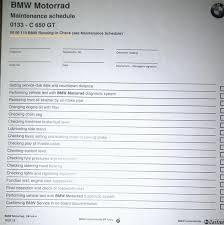 c bmw service bmw scooter maintenance schedule webbikeworld
