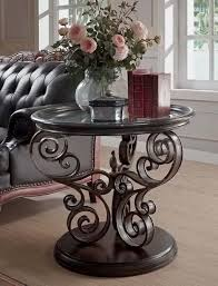 legends furniture end tables sorrento round end table in brown eastern legends furniture home