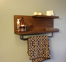 Wooden Shelves For Bathroom Storage Organization Awesome Rustic Floating Shelf With
