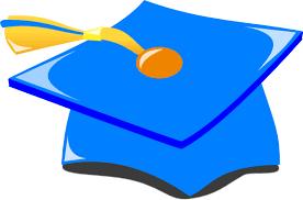 blue graduation cap graduation hat blue and gold clip at clker vector clip