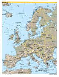Eastern Europe Political Map by Detailed Political And Relief Map Of Europe Europe Detailed