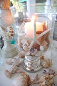 Beach Theme Centerpiece Ideas by Under The Sea Wedding Theme Decorations The Vases With Glue Dots