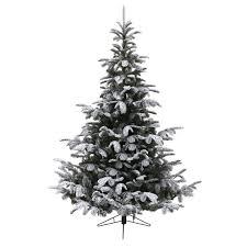kaemingk 210cm 7ft snowy nordmann artificial tree 689512