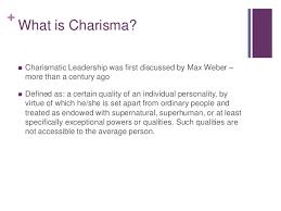 charismatic leadership post