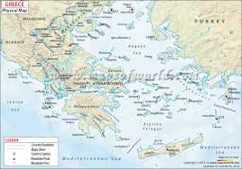 Blank Map Of Mediterranean by Greece Physical Map Physical Map Of Greece