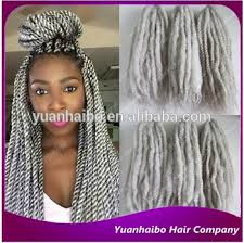 gray marley braid hair wholesale price stock grey hair synthetic afro kinky twist silver