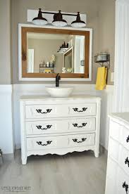 Bathroom Counter Ideas Colors Old Dresser Turned Bathroom Vanity Tutorial