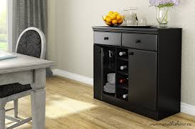 amazon com south shore morgan sideboard pure black kitchen dining