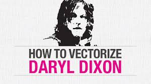 tutorial photoshop walking dead how to vectorize daryl dixon from the walking dead this design girl