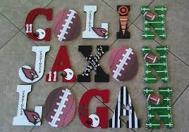 themed letters custom sports themed wooden letters by kid murals by