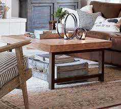 pottery barn griffin round coffee table griffin reclaimed wood coffee table pine pottery barn