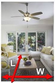 ceiling fan size for large room ceiling fan sizing guide the general rule of thumb to keep in mind