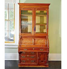 Victorian Secretary Desk by Victorian Eastlake Walnut Cylinder Roll Top Desk Ebth