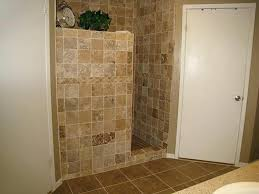 No Shower Door Decoration Tile Showers With No Doors