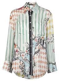 print blouses balmain lowered price miami print blouse button top size 8 m