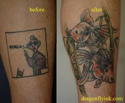 shin tatoos the best tattoo cover ups of the worst tattoos