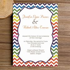 wedding invitation exle affordable festive colorful chevron modern wedding invitations