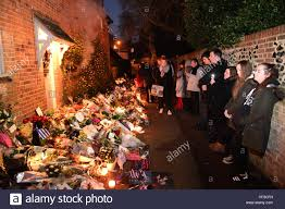 George Michaels Home Flowers Candles And Words Of Sympathy Were Left Outside George