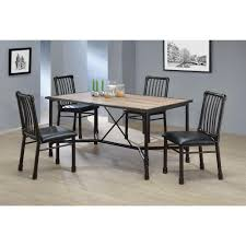 acme furniture caitlin rustic oak water resistant dining table
