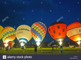 glow in the balloons air balloon glow show in united kingdom stock photo