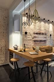Kitchen With Brick Backsplash by Kitchen Design Faux Brick Backsplash Large Refrigerator Excellent