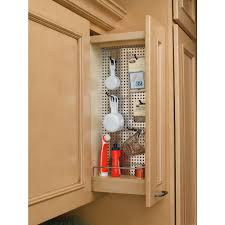 Cabinet Door Organizer by Rev A Shelf 26 25 In H X 5 In W X 10 75 In D Pull Out Wood Wall