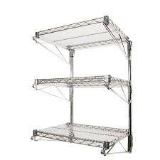 Garage Wall Organizer Grid System - wall mounted shelving racks u0026 accessories shelving com