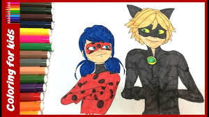 colouring pages how to color ladybug and cat noir coloring pages