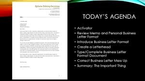 Business Letter Format On Letterhead by Introduction To Business And Technology Ppt Download