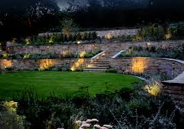 esher new house build garden lighting project ornamental