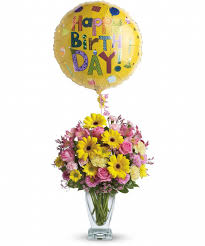 30th birthday flowers and balloons happy birthday birthday flowers allen s flowers plants birthday