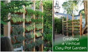 Pot Garden Ideas A Vertical Clay Pot Garden Terracotta Pot Vertical Garden Hawe Park